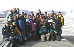 Workshop group photo at Mammoth Hot Springs