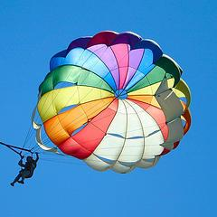multicolored parachute photo