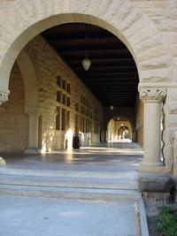 Stanford campus photo, archway