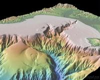 3D image of Montery Bay, CA