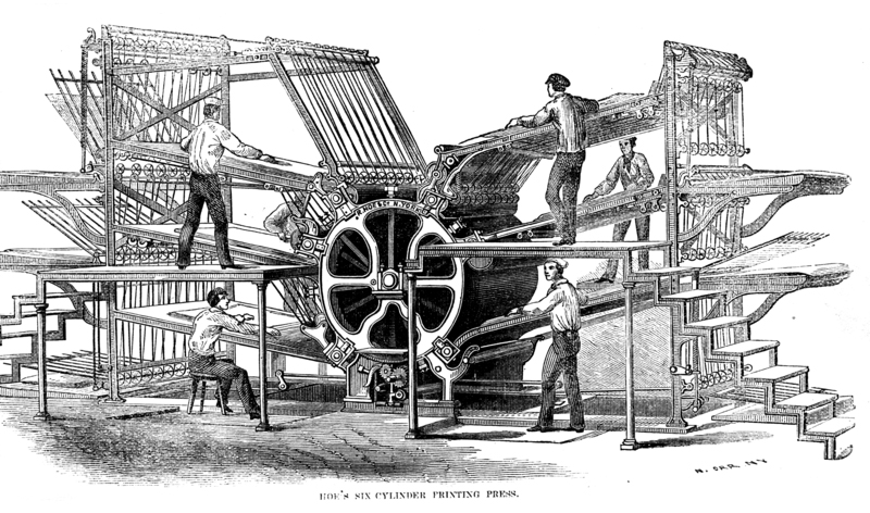 Cylinder Printing Press - KylebTylerr Industrial revolution ...