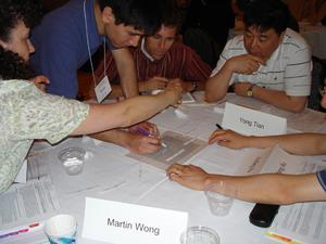 Early Career workshop participants work on Randy