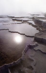 Hot spring terraces