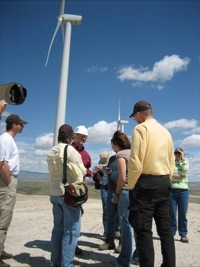 Energy field trip - Seven Mile Hill wind farm 5