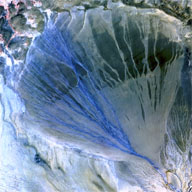 alluvial fan in western China