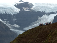 Students working near Morsarjokull, Iceland