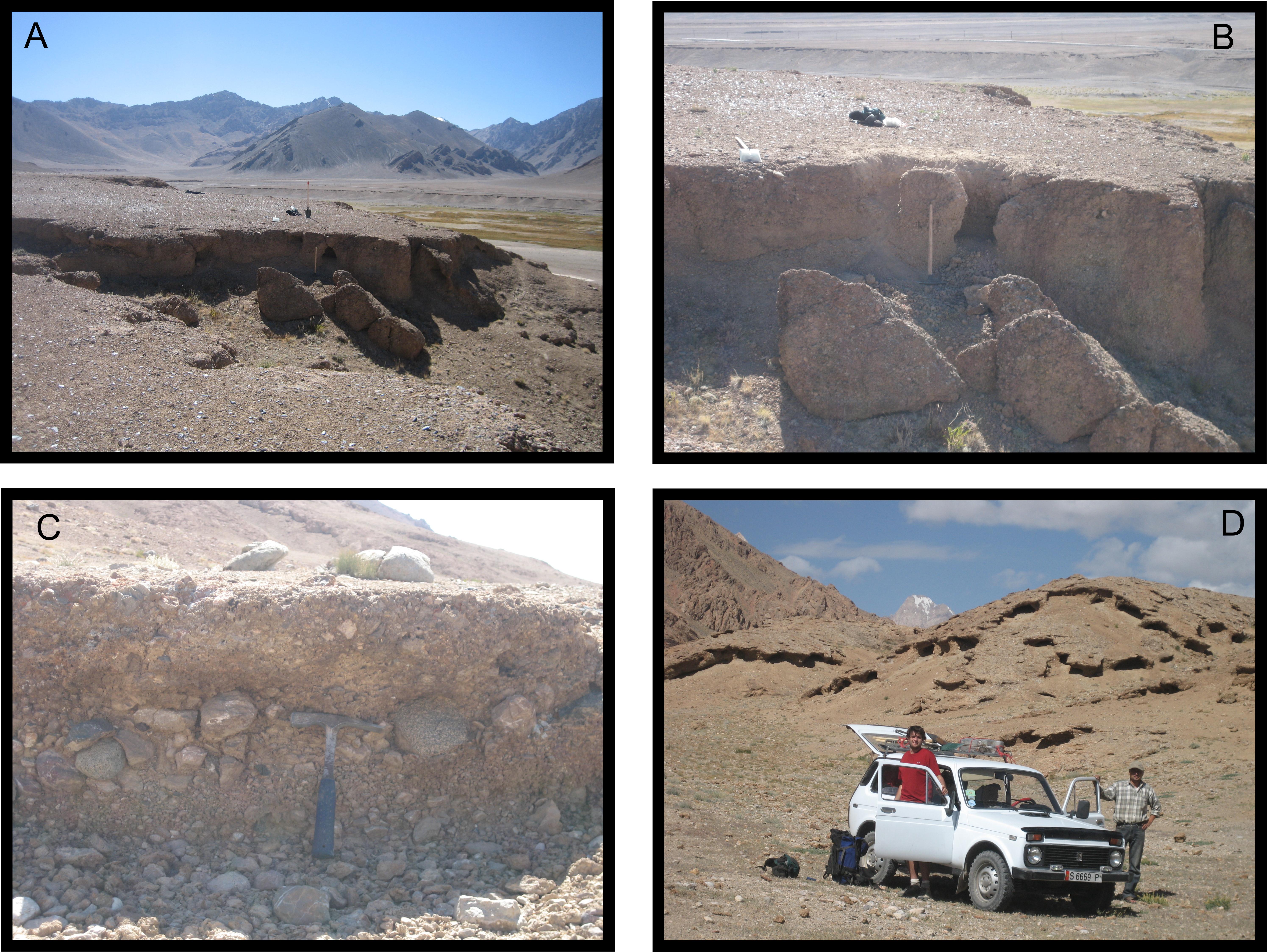 Carbonate cemented landforms of the pamir plateau for Terrace landform