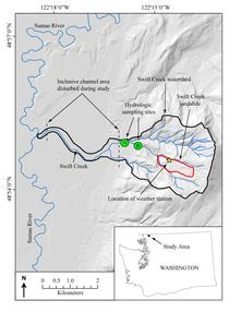 Figure 2. Map of Swift Creek landslide
