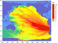 Forecast Energy Dissipation from 2010 Chile Tsunami