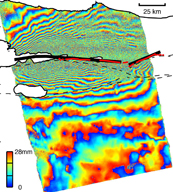 SAR interferogram ground deformation Izmit Turkey quake