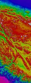 Shaded relief Himalayas