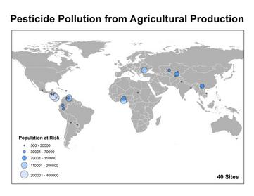 Areas of Pesticide Pollution
