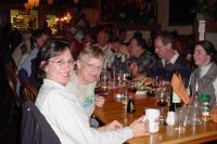 Workshoppers enjoy their farewell feast at John Bozeman