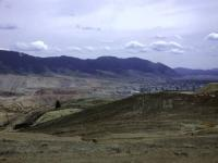 Panoramic view of mines with the City of Butte below.