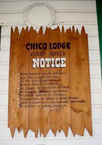 Set of rules for unruly cowboy guests at Chico