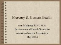 Mercury Medical Waste and Human Health
