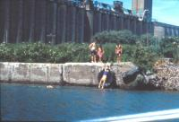 Kids swimming in the polluted Buffalo River