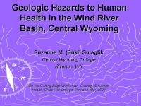 Potential Geologic Hazards to Human Health in the Wind River Basin WY