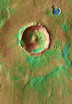 THEMIS image of Bacolor Crater, Mars