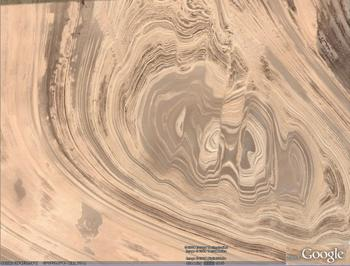 Great Kavir, Iran faults folds