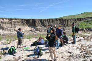 Group drawing with outcrop