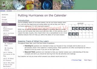 EarthLabs for Students Example