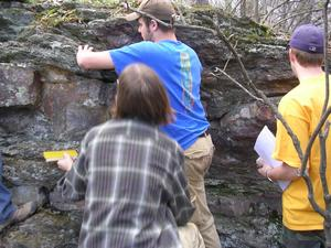 Students at Bariboo, WI, field site