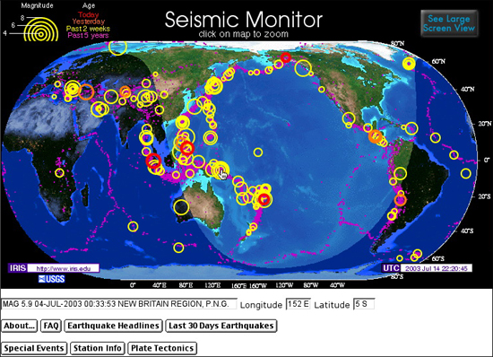 earthquake monitoring system
