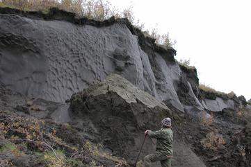Yedoma Permafrost Ice Wedge