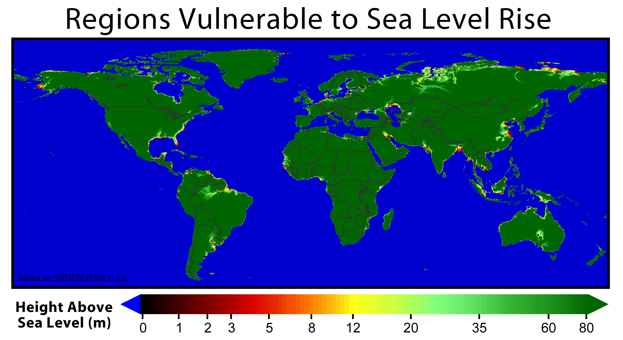 updated . sea level rise map  my blog