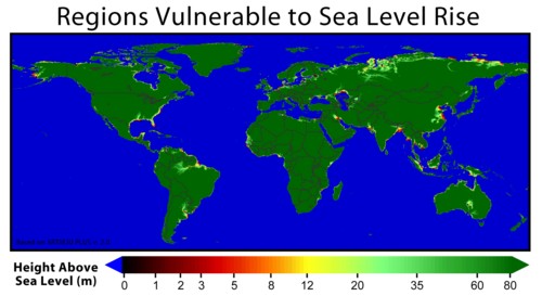 Areas at Risks from Sea Level Rise