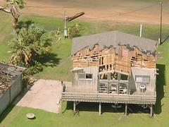 Beach house in Matagorda, FL with wind damage
