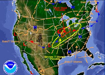 june 10 weather map