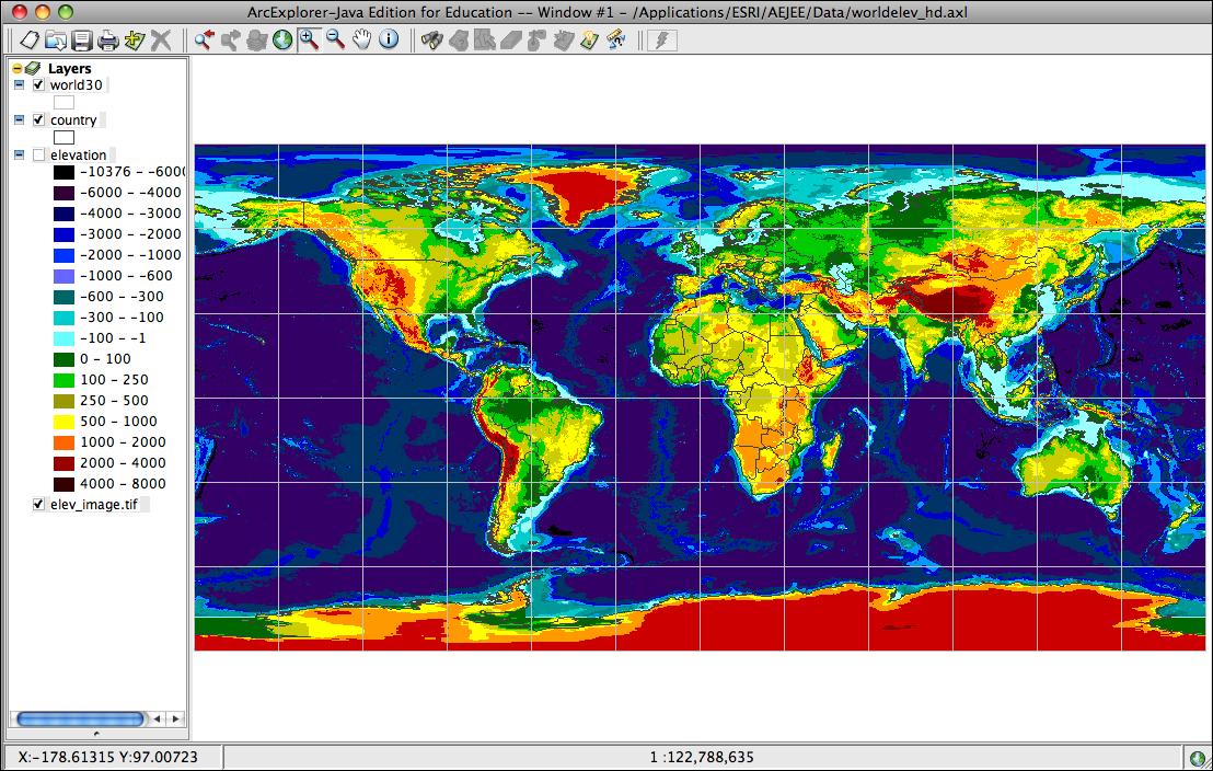 World Elevation Map Images - World altitude map