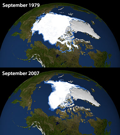 Arctic Sea Ice September 1979-2007