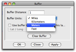 setting buffer to i meter