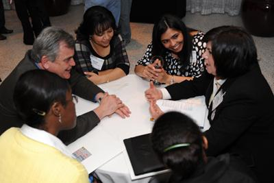 Discussion at the 2010 Minority Faculty Development workshop