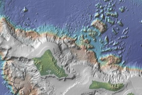 Geomapapp view of giant landslides around Hawaii