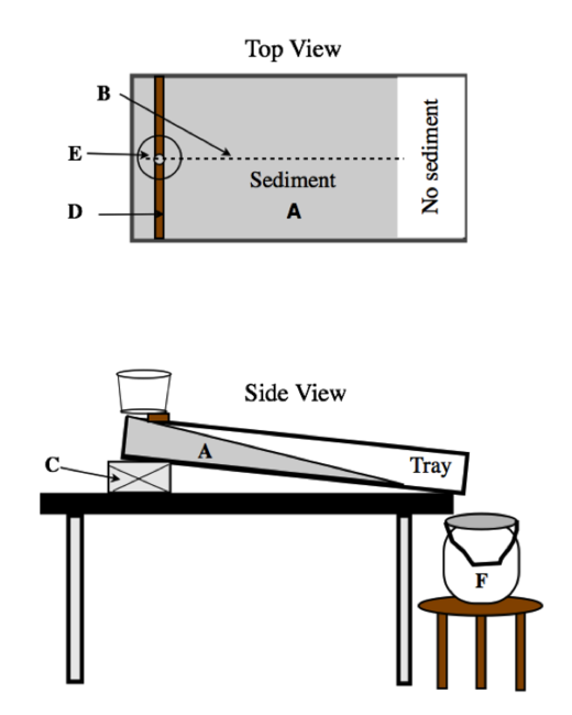 Schematic view of the stream table setup for Table 19 streaming