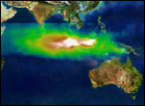 Tropospheric ozone above Indonesia caused by smog