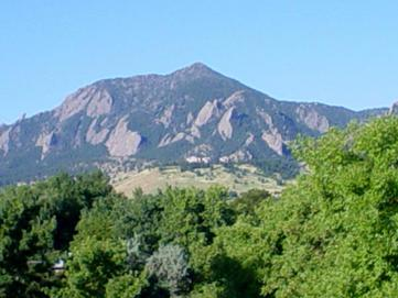 The view from Colorado State University's Boulder campus