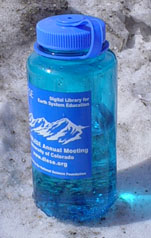 A  typical reusable water bottle