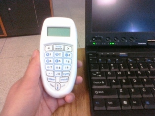 Clicker and laptop