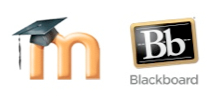 Blackboard and Moodle logos