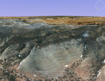 Checkerboard Mesa Google Earth image capture