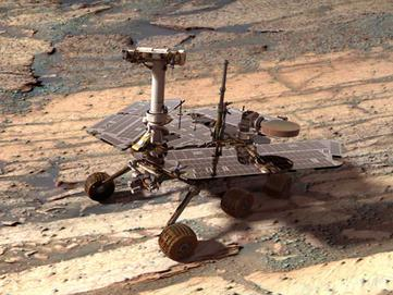 Digital Opportunity Rover on Mars at Endurance Crater