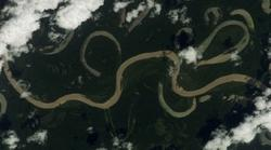 Meanders in the Rio Grande River