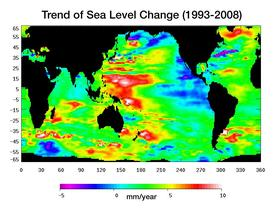 sea level rise map