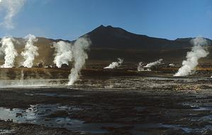 Geothermal area in El Tatio, Chile