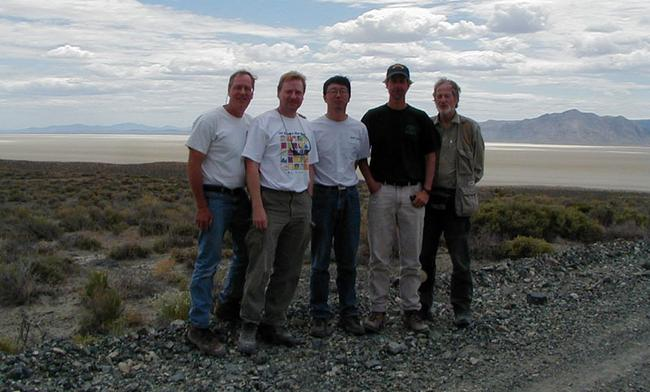 Image of Nevada field team including NASA and UGA participants